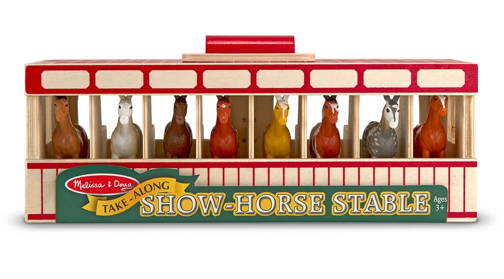 Melissa & Doug Take-Along Show-Horse Stable - MS3744