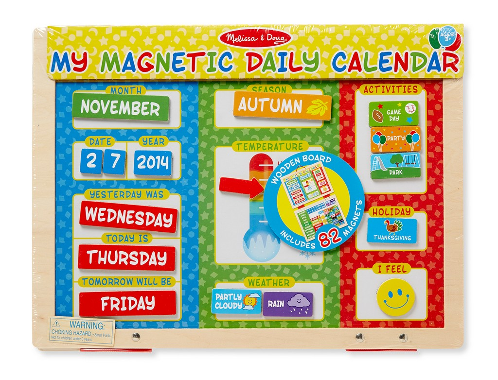 Melissa & Doug My First Daily Magnetic Calendar - MS9253