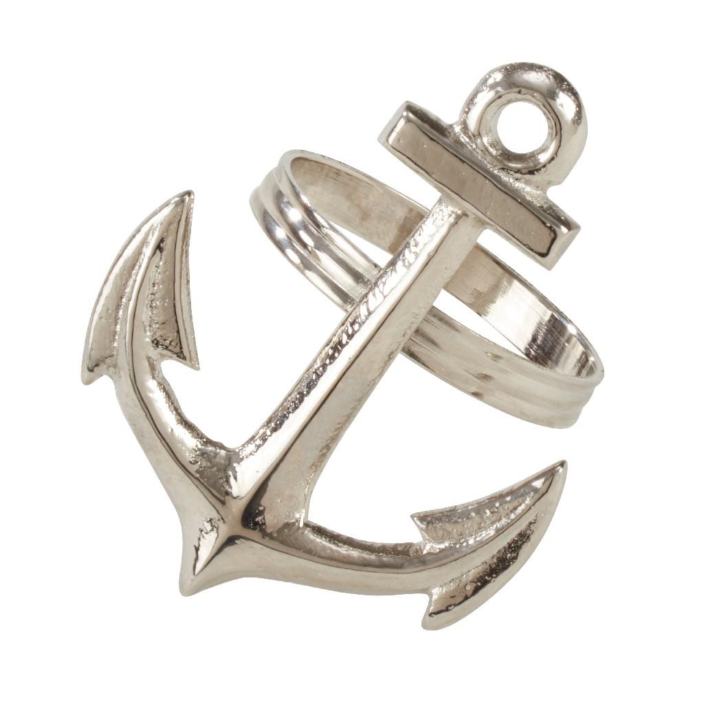 Anchor Design Napkin Ring (Set of 4) - Saro Lifestyle NR973.S