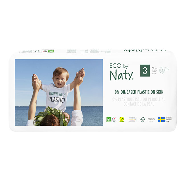 Eco by Naty Diapers, Size 3, 100 Diapers Economy Pack (2 Pack of 50) - NT178426