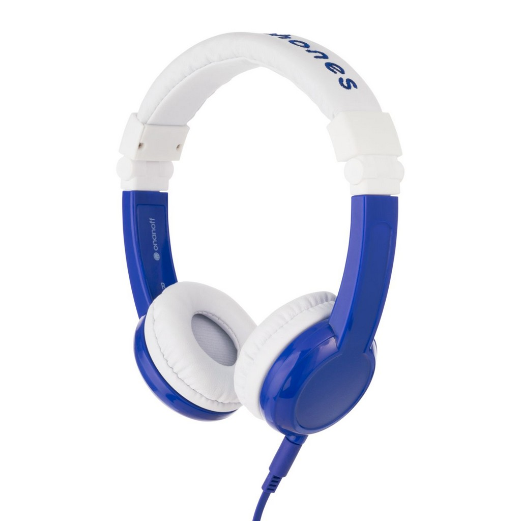 BuddyPhones Explore Cushioned Foldable Headphones with In-Line Microphone and Travel Bag (Blue) - OABP-EX-FD-BLUE-01-K