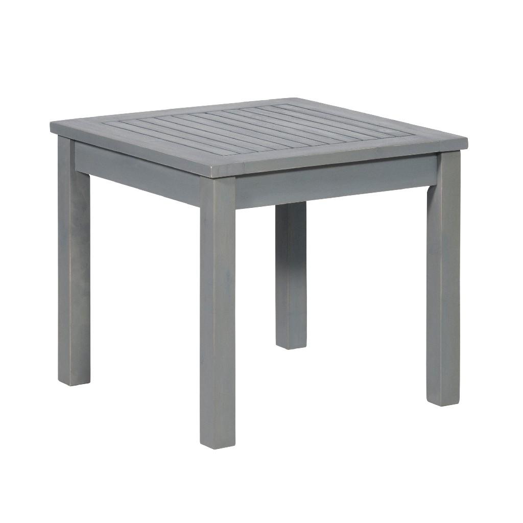 "20"" Simple Outdoor Side Table in Grey Wash - Walker Edison OWSSTGW"