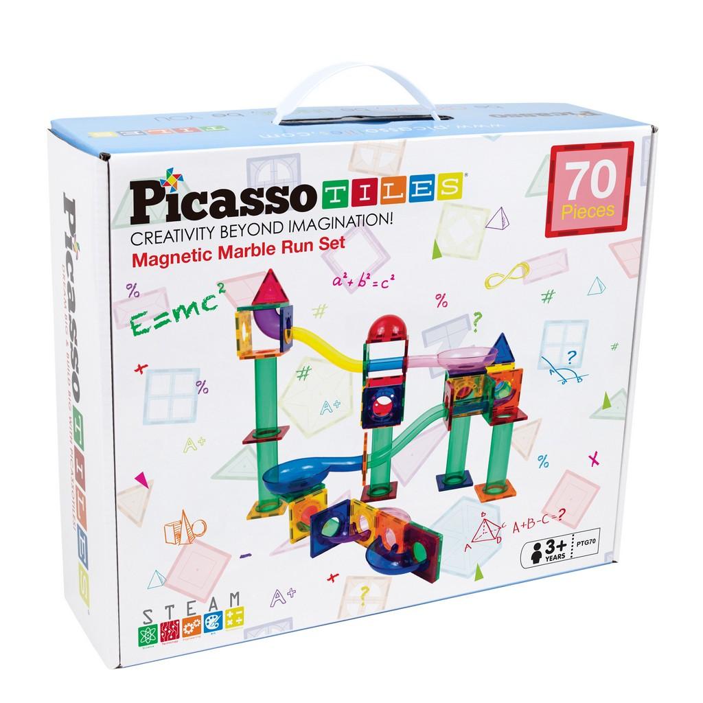 PicassoTiles 70-pc Marble Run Building Blocks - PCPTG70