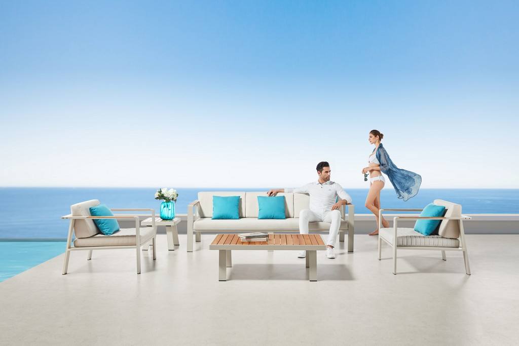 Gilano Outdoor Contemporary Seating Set Cushions