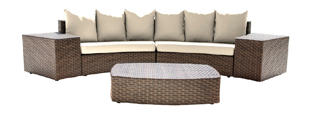 Panama Jack Big Sur 5 PC Sectional Set with Cushions