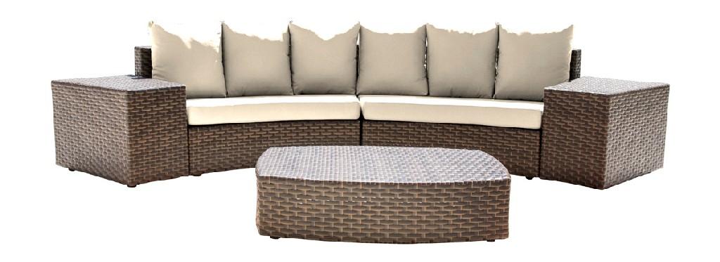 Panama Jack Big Sur 5 PC Sectional Set with Cushions