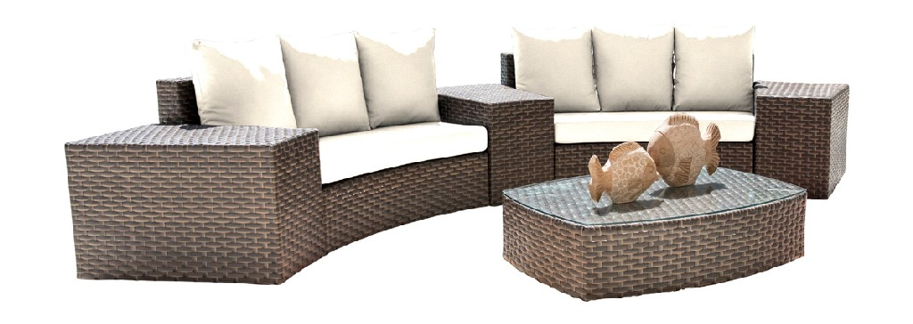 Panama Jack Big Sur 6 PC Sectional Set with Cushions