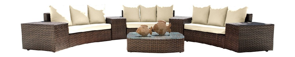 Panama Jack Big Sur 8 PC Sectional Set with Cushions