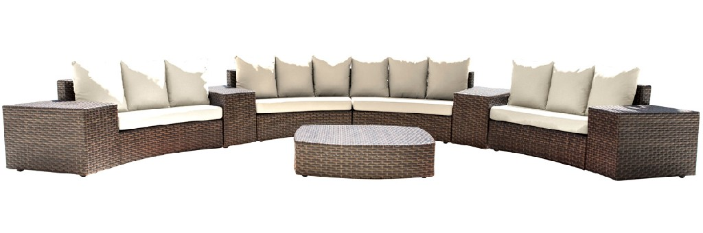 Panama Jack Big Sur 9 PC Sectional Set with Cushions