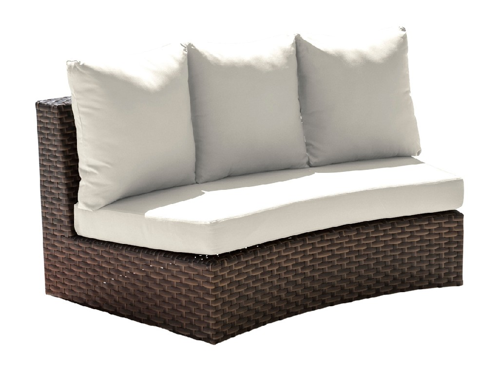 Panama Jack Big Sur Curved Loveseat with Cushions