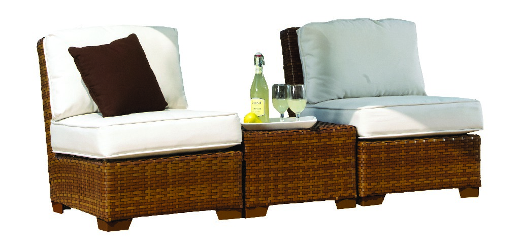 Panama Jack 3 PC St Barths Armless Set with Cushions