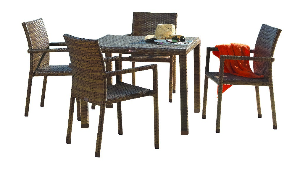 Panama Jack 5 PC St Barths Arm Chair Dining Set with Cushions
