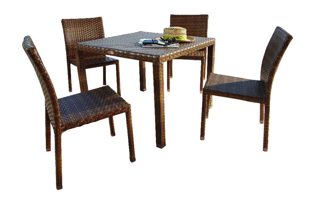 Panama Jack 5 PC St Barths Side Chair Dining Set with Cushions