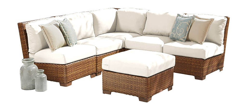 Panama Jack 6 PC St Barths Modular Sectional with Cushions