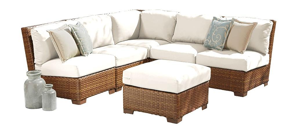 Panama Jack 6 PC St Barths Modular Sectional with Cushions