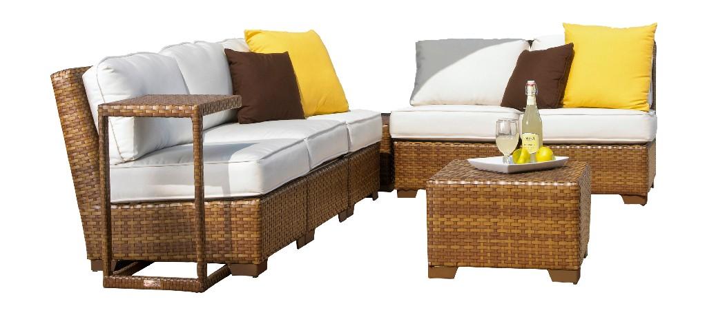 Panama Jack 8 PC St Barths Modular Sectional with Cushions