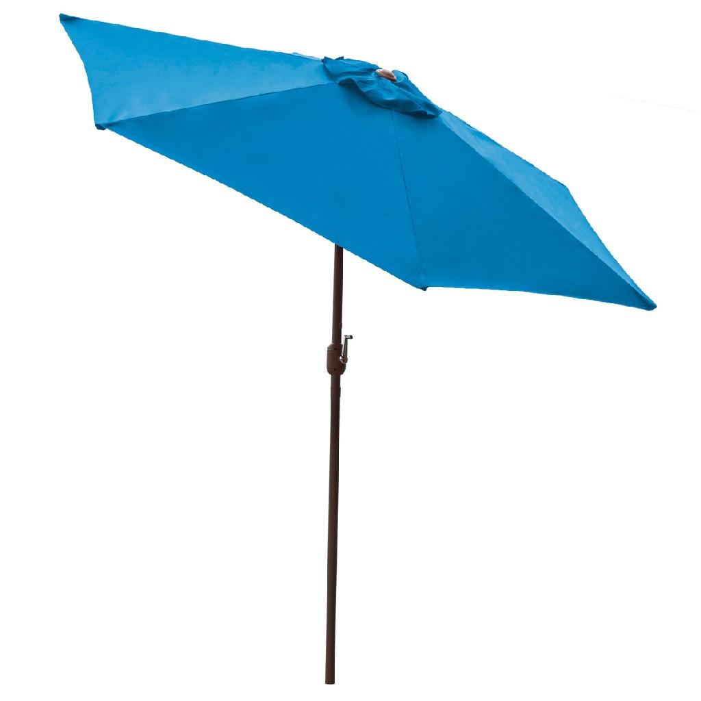 Panama Jack Blue 9 Ft Alum Patio Umbrella W/Crank - PJO-6001-BLUE