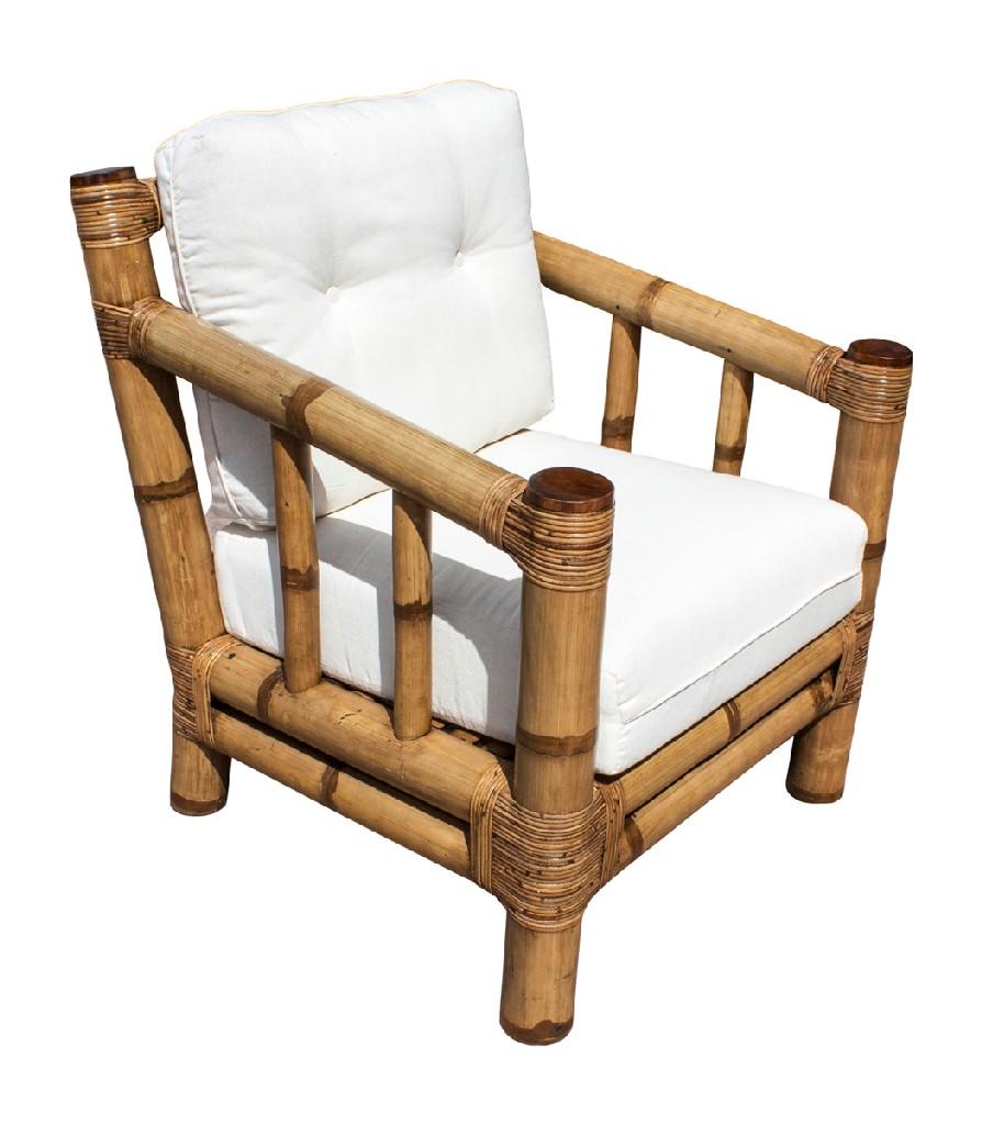 Patriot   Natural   Cushion   Bamboo   Lounge   Cherry   Chair