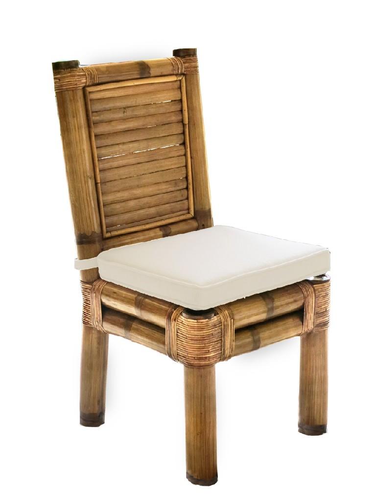 Natural   Cushion   Bamboo   Ocean   Drive   Chair