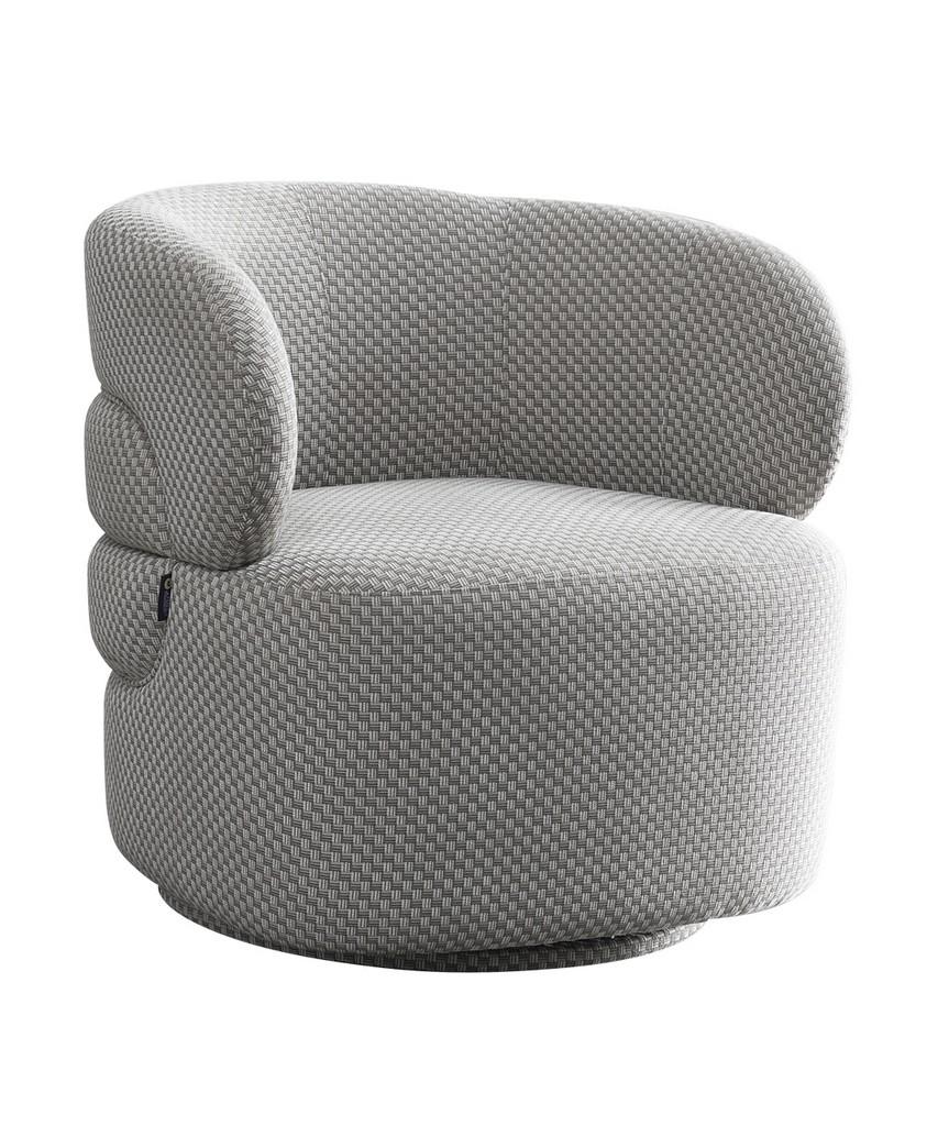 Noho Bleeker Accent Chair Silver