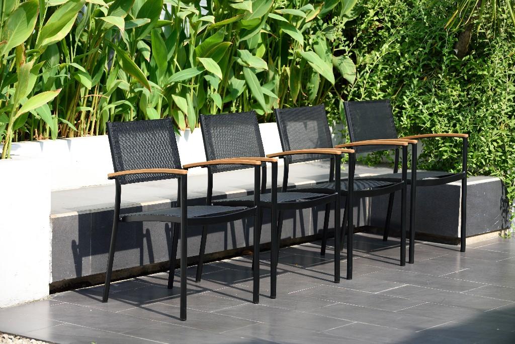 Outdoor | Indoor | Stack | Patio | Chair | Black | Home
