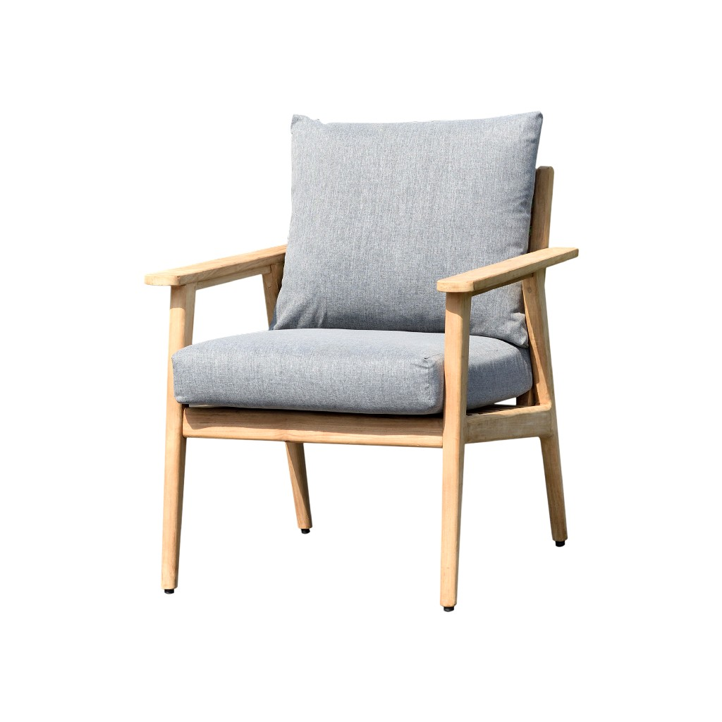 Amazonia Sandyport Patio Armchair / Durable outdoor furniture made of Grade A Teak / Olefin Cushion - International Home SC EVE ARM