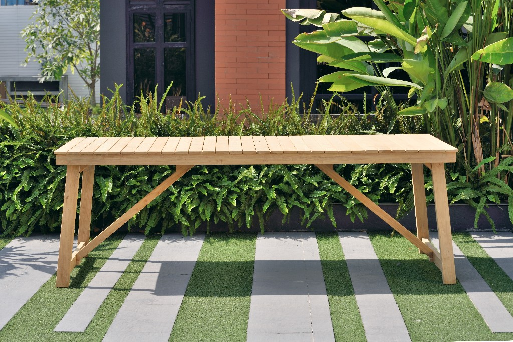 Amazonia Laredo Rectangular Patio Dining Table / Durable & made of 100% Grade A Teak / Ideal for Indoors & Outdoors / Modern Country Style - International Home SC KLARION_RECT