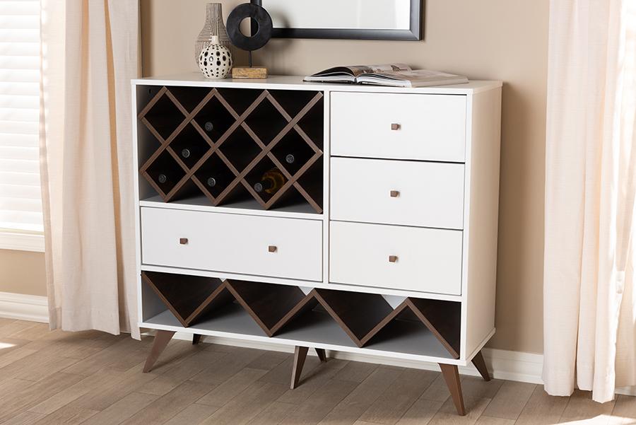 Cabinet | Walnut | Modern | Finish | White | Wine | Wood