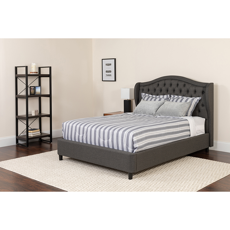 Flash Platform Bed Tufted Upholstered King