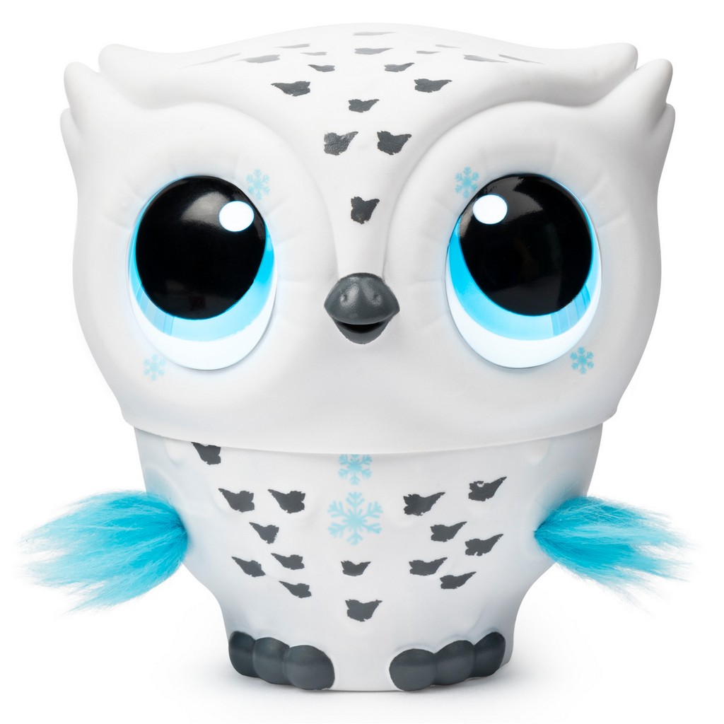 Owleez Flying Baby Owl Interactive Toy with Lights and Sounds (White) - SM6046156
