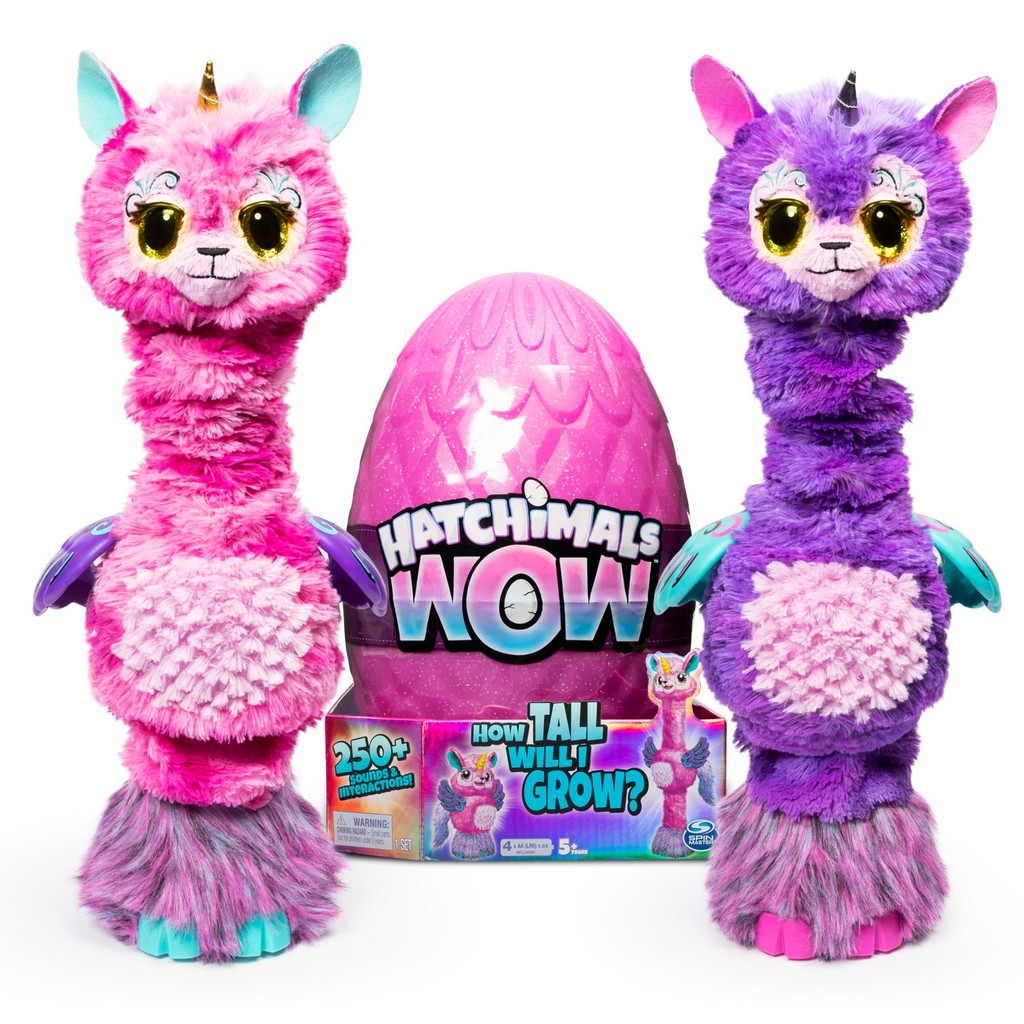 Hatchimals WOW, Llalacorn 32-Inch Tall Interactive Hatchimal with Re-Hatchable Egg (Styles May Vary) - SM6046987