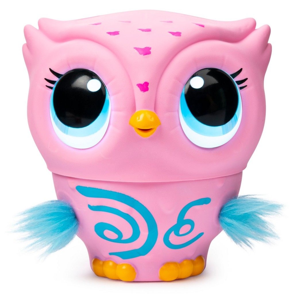 Owleez Flying Baby Owl Interactive Toy with Lights and Sounds (Pink) - SM6053358