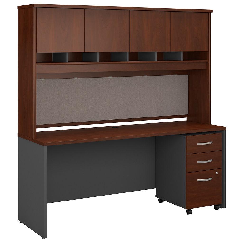 Office Desk Hutch Mobile File Cabinet Hansen Cherry Bush