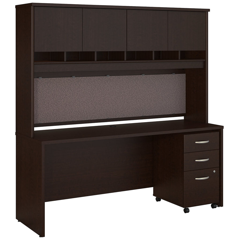 Bush Business Office Desk Hutch Mobile File Cabinet