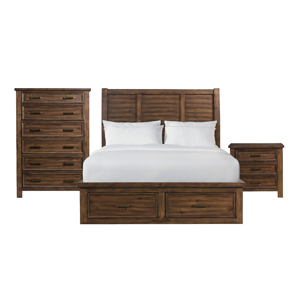 Picket House Bedroom Set King Drawer Platform Storage