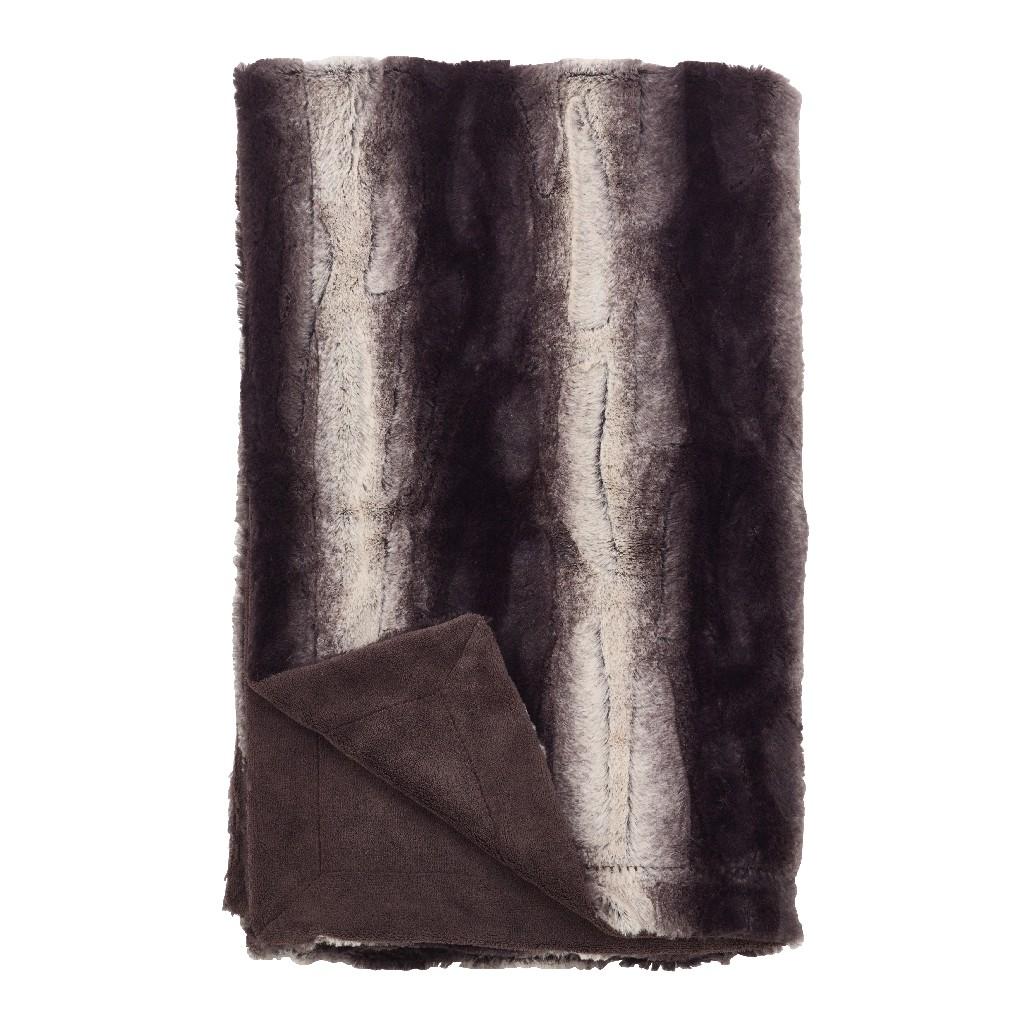 Animal Print Design Faux Fur Throw Blanket - Saro Lifestyle TH050.BK5060
