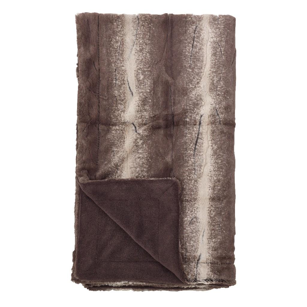 Animal Print Design Faux Fur Throw Blanket - Saro Lifestyle TH050.CT5060