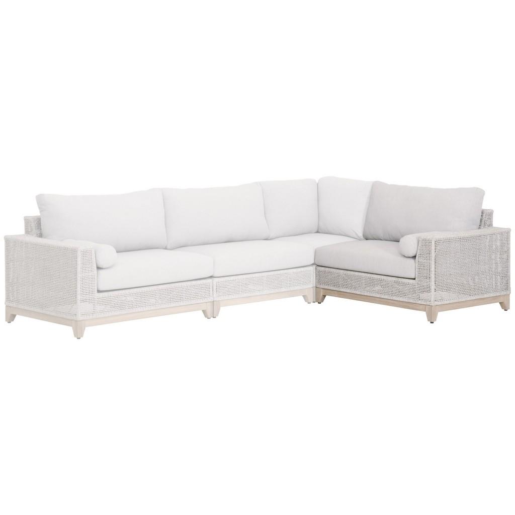 Woven Tropez Outdoor Modular Right Facing Arm Sofa