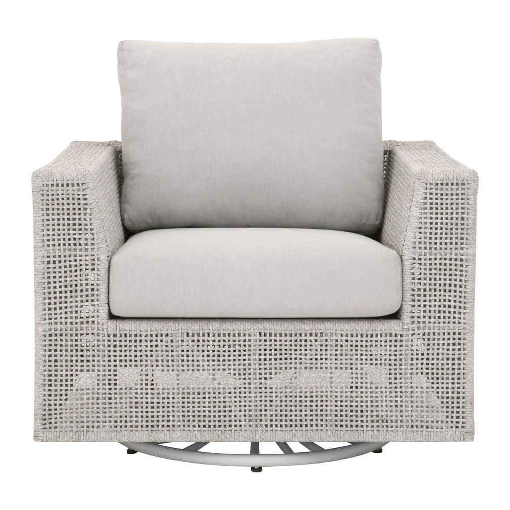 Woven Tropez Outdoor Swivel Rocker Sofa Chair