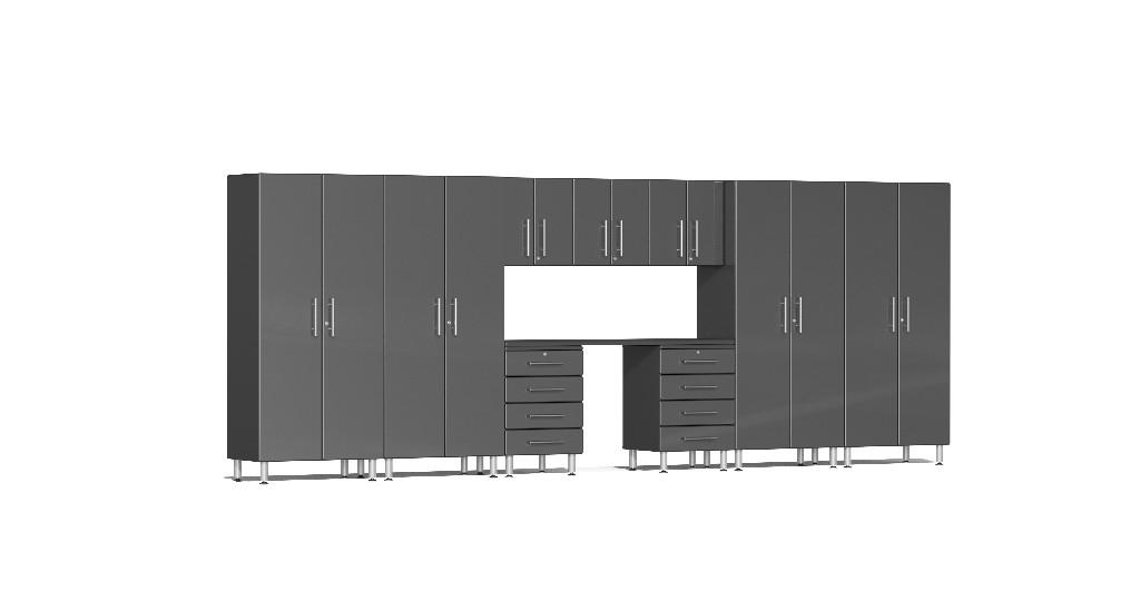 Ulti-MATE Garage 2.0 Series 10-Piece Kit with Recessed Worktop in Grey Metallic UG22101G