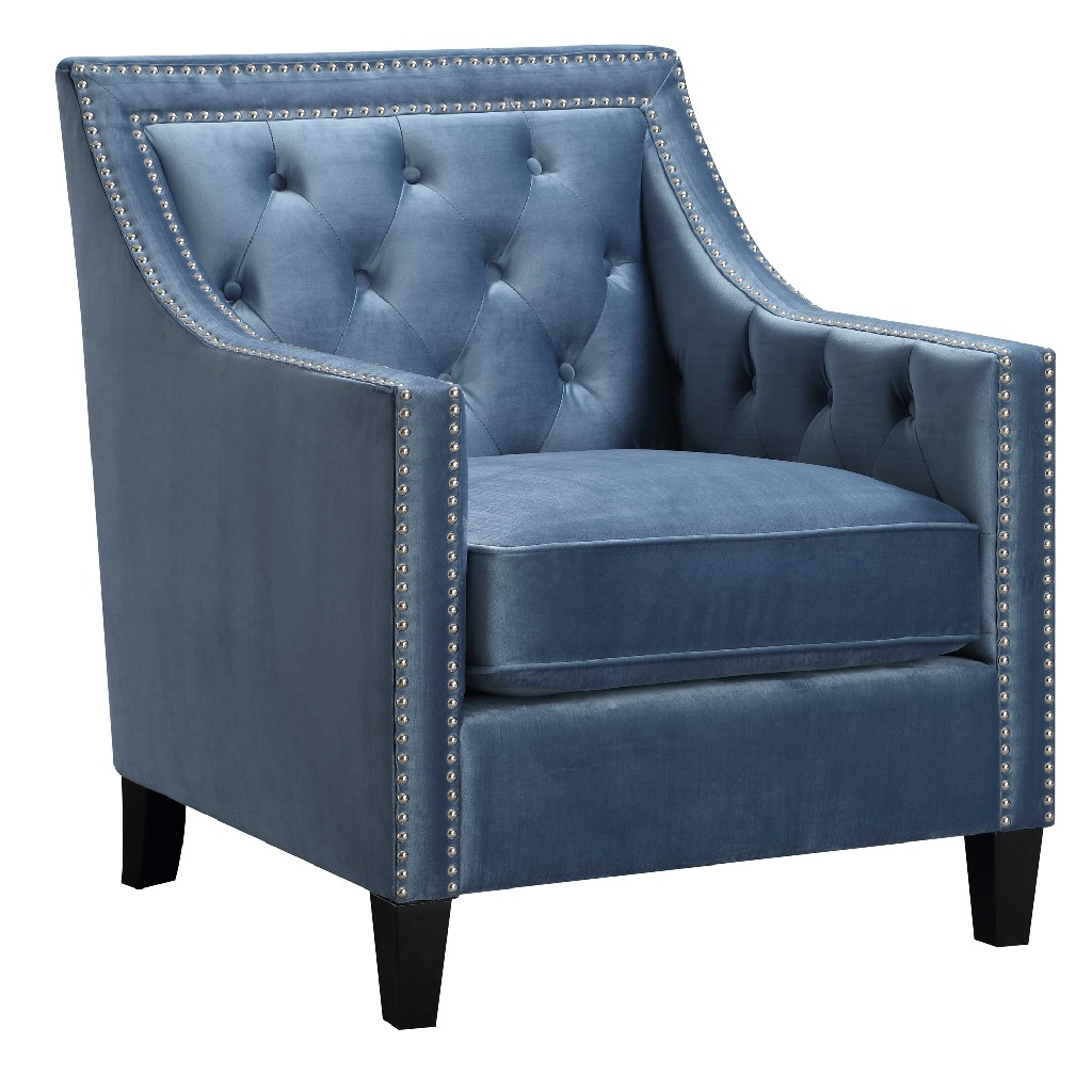 Teagan Accent Chair In Marine Blue Picket House Furnishings Utf291100ca