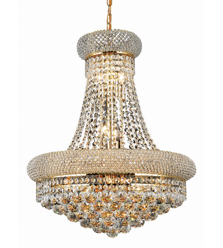 Light Gold Chandelier Clear Swarovski Crystal
