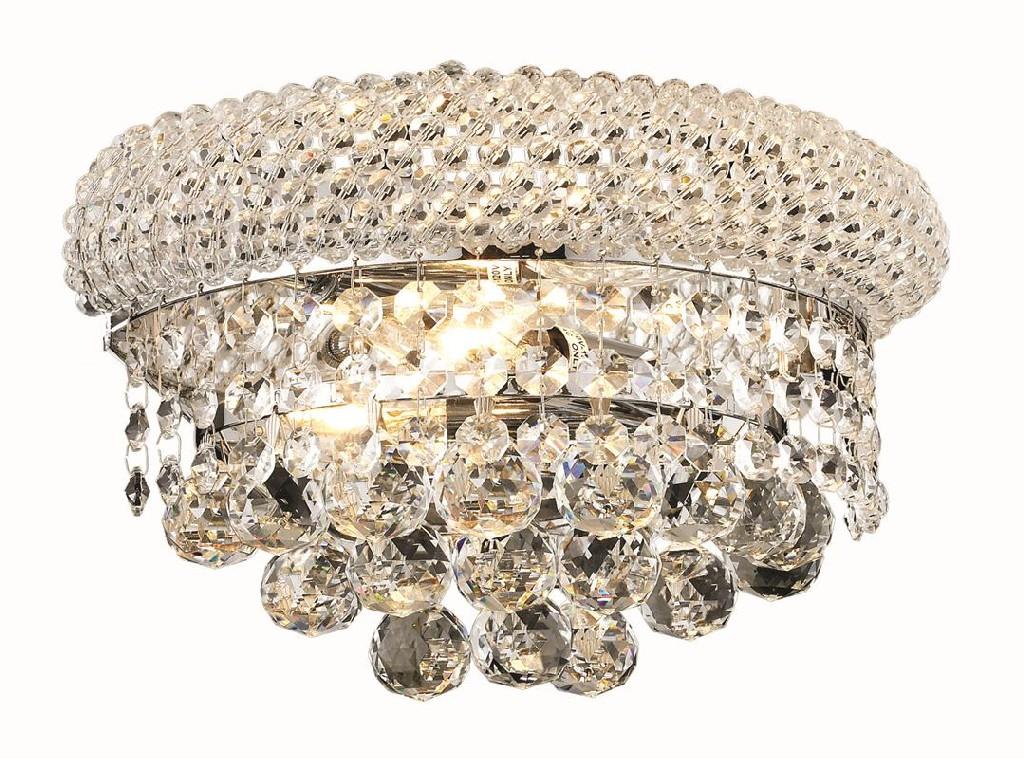 Elegant Lighting Light Chrome Wall Sconce Clear Swarovski Elements Crystal