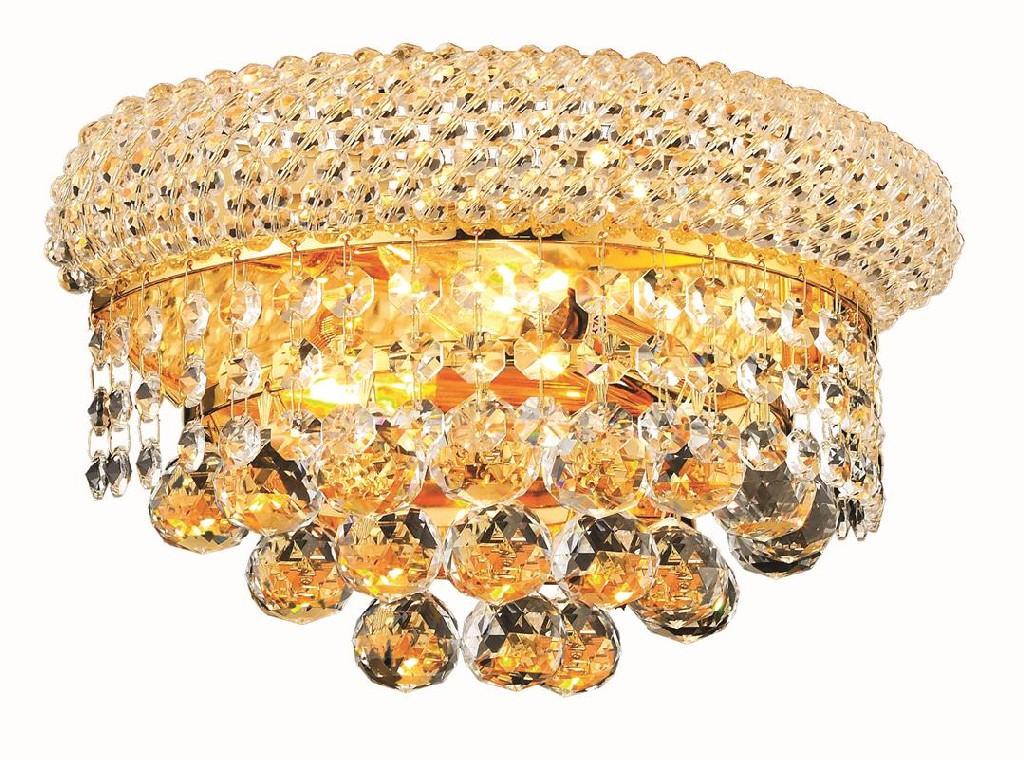 Elegant Lighting Light Gold Wall Sconce Clear Swarovski Elements Crystal