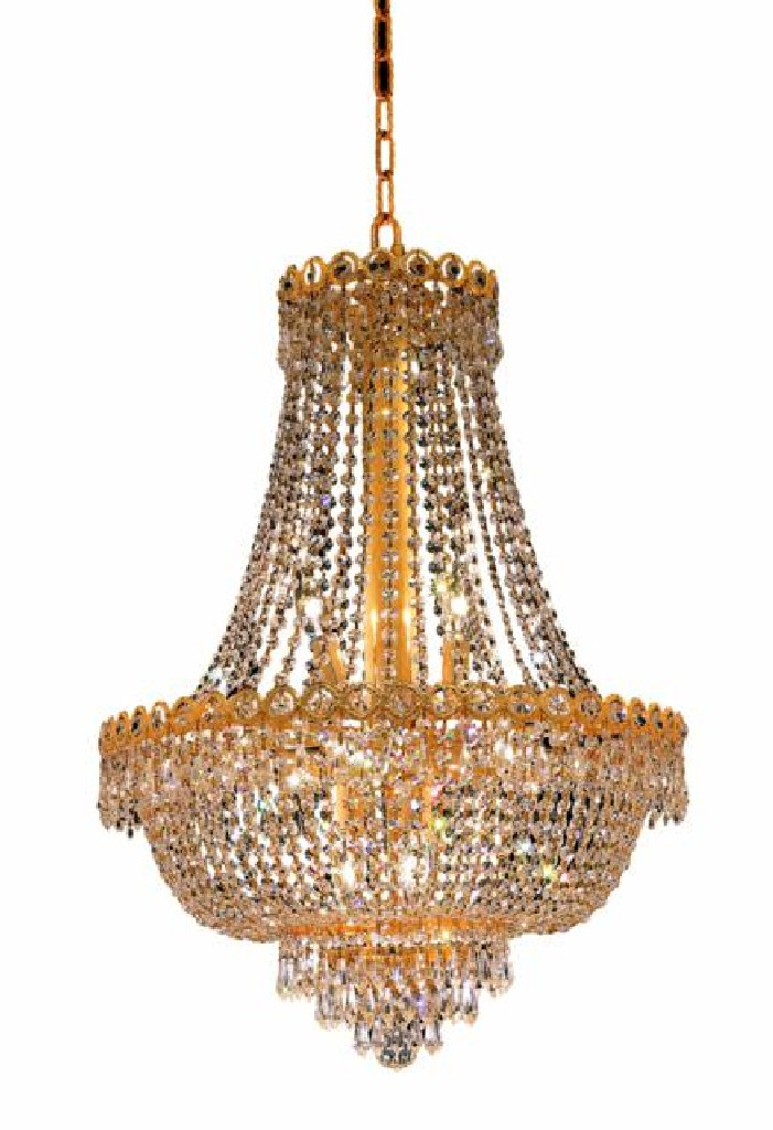 Elegant Lighting Century Light Gold Chandelier Clear Royal Cut Crystal