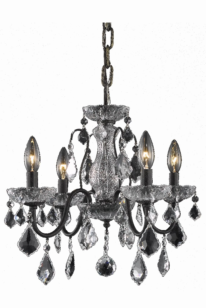 Elegant Lighting Light Dark Bronze Pendant Clear Spectra Swarovski Crystal