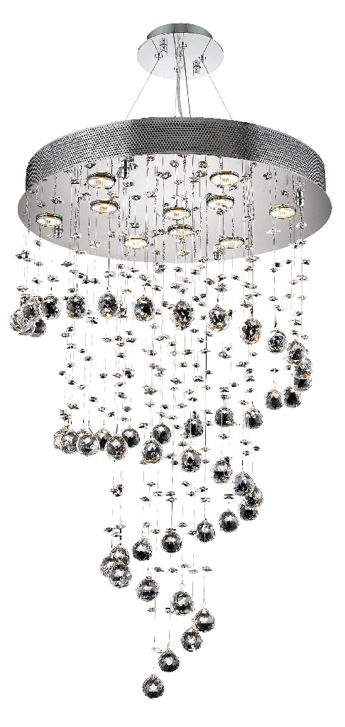 Elegant Lighting Galaxy Light Chrome Chandelier Clear Spectra Swarovski Crystal