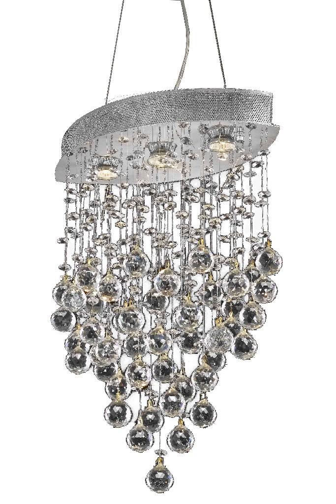Elegant Lighting Galaxy Light Chrome Pendant Clear Royal Cut Crystal