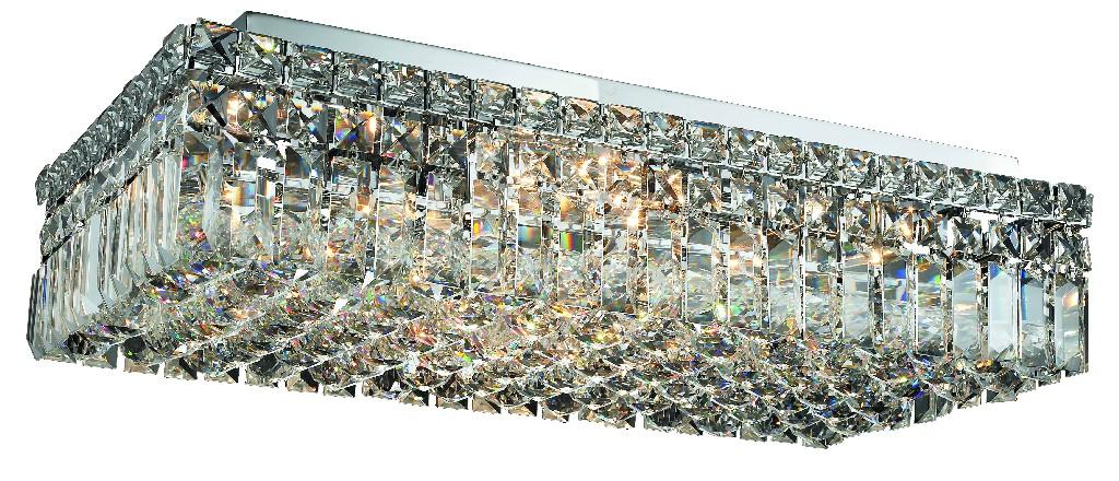 Elegant   Crystal   Chrome   Flush   Clear   Mount   Royal   Light   Cut