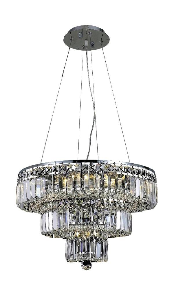 Elegant Lighting Light Chrome Chandelier Clear Spectra Swarovski Crystal
